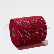 Burgundy Sequin Tulle Roll